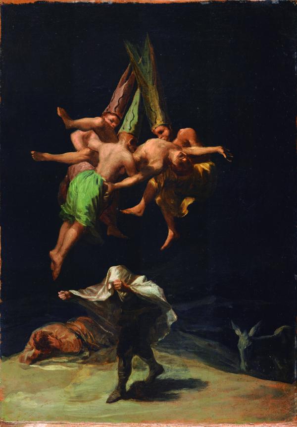 'El vuelo de las brujas', Francisco de Goya y Lucientes (1798).