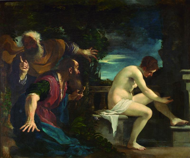 'Susana y los viejos', Guercino (1617).