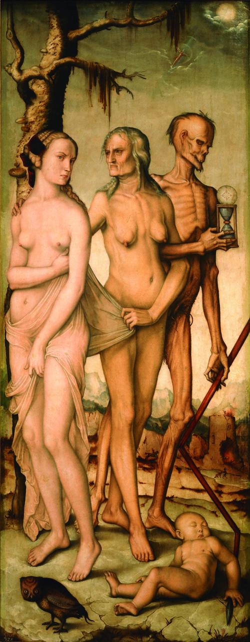 'Las edades y la muerte', Baldung Grien (1541-1544).