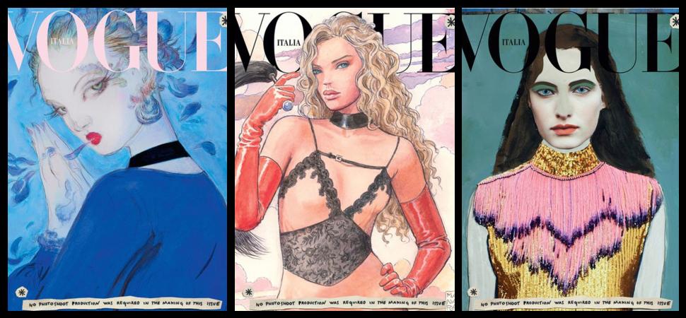 Vogue Italia cambia las fotos por ilustraciones como gesto hacia el planeta