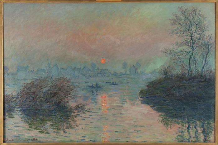 'Puesta de sol en Lavacourt' de Claude Monet. Imagen: Paris Musées.