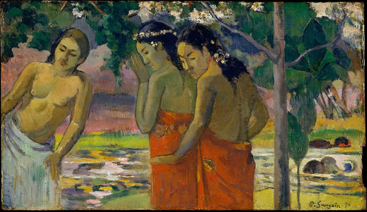 'Tres mujeres de Tahití' de Paul Gauguin. Imagen: MET.