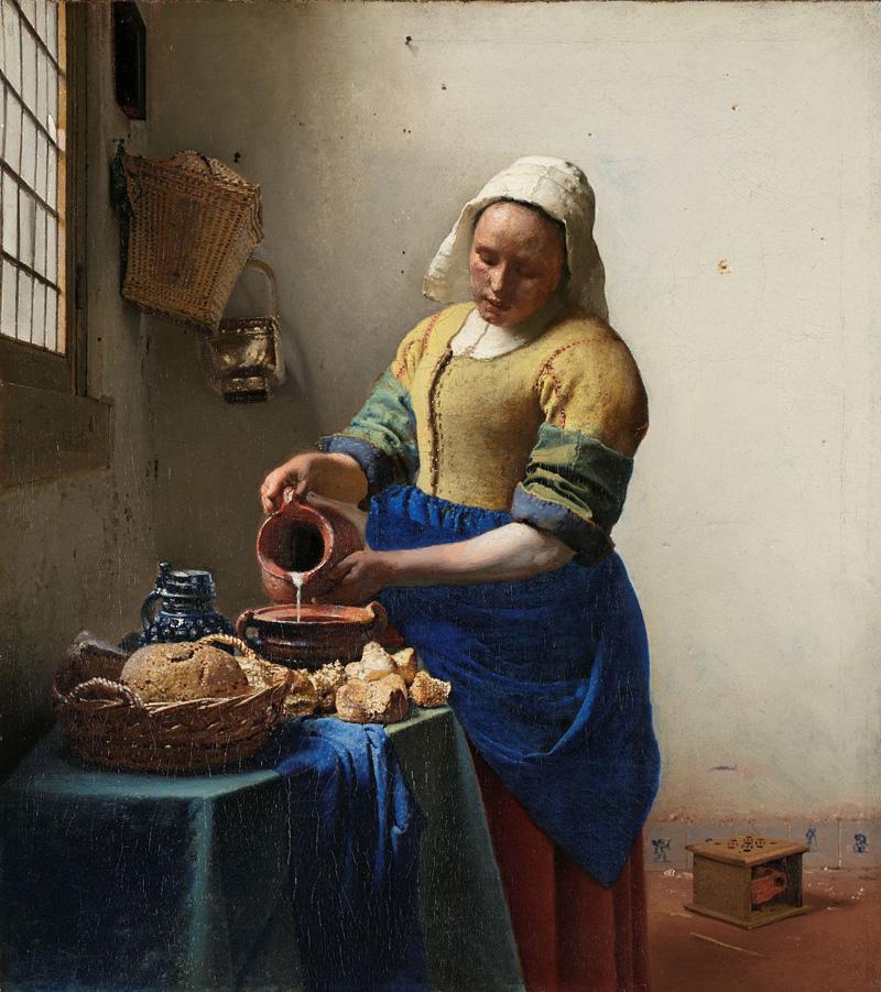 'La lechera' de Johannes Vermeer. Imagen: Rijksmuseum.