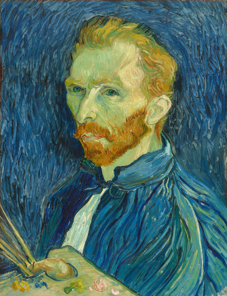 Autorretrato de Vincent van Gogh. Imagen: National Gallery of Art.