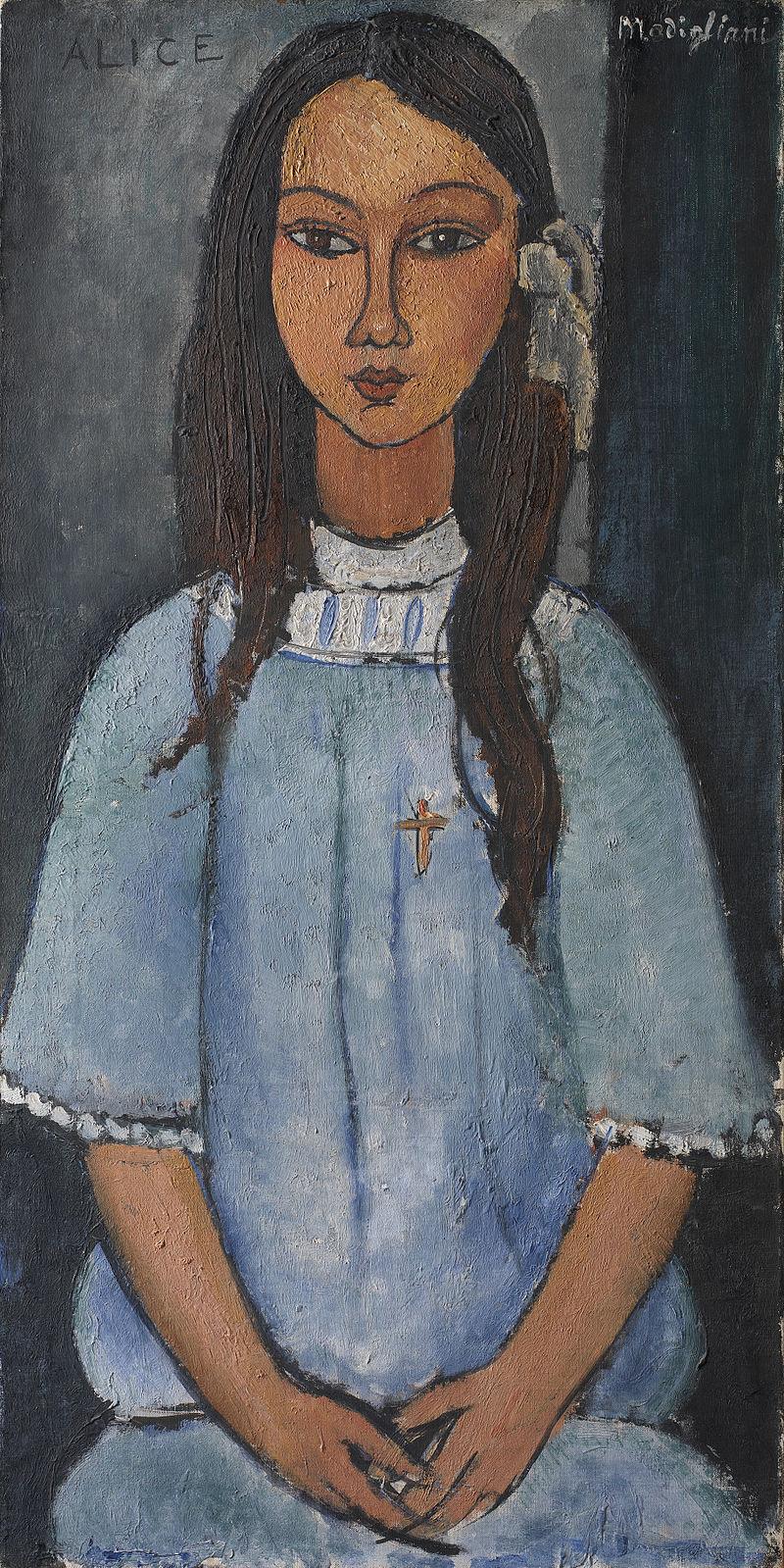 'Alice' de Amadeo Modigliani. Imagen: SMK.