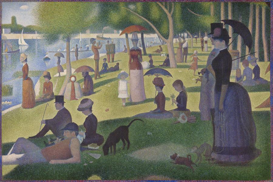 'Tarde de domingo en la isla de la Grande Jatte' de Georges Seurat. Imagen: Instituto de Arte de Chicago.