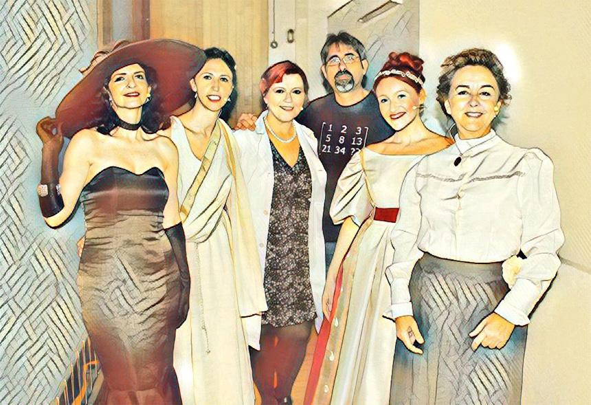De izquierda a derecha: Mª José Jiménez, Isabel Fernández, Clara Grima, Francisco Vega, Mª Carmen Romero y Adela Muñoz.