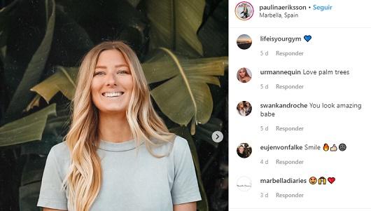 Imagen del perfil de Instagram de Paulina Ericksson