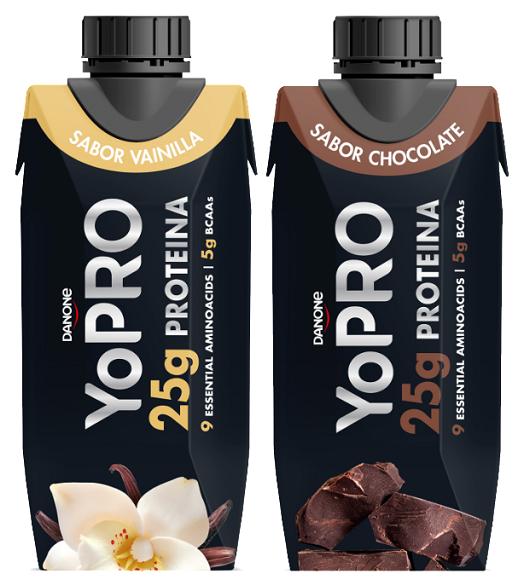 YoPRO no lleva azúcares añadidos (contiene azúcares naturalmente presentes) ni materia grasa