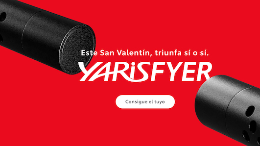 Toyota lanza el 'Yarisfyer' para San Valentín