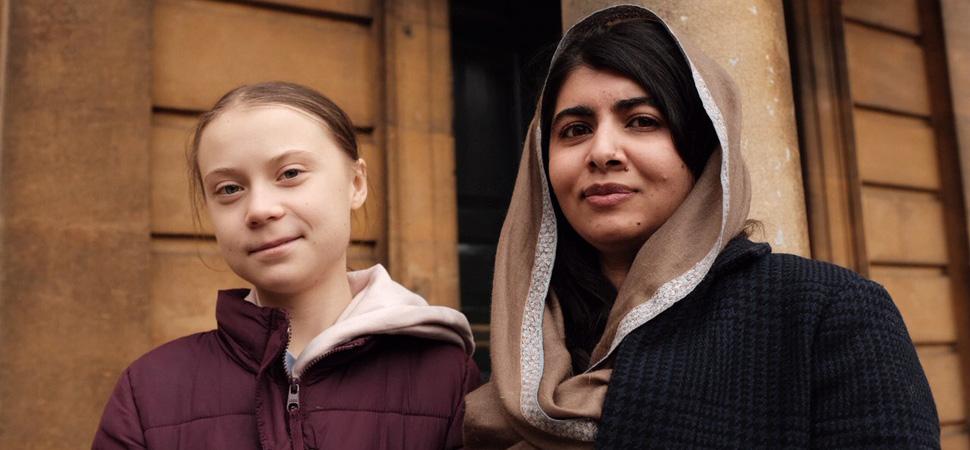 Cuando Greta conoció a Malala