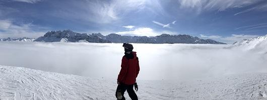 El esquí, una de la aficiones de Rionda