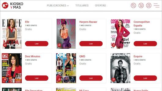 Imagen de algunas de las revistas de Hearst en KioskoyMás