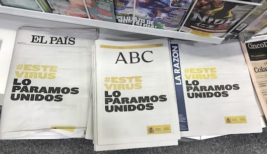 Algunos de los diarios nacionales de ayer domingo