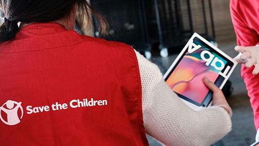 Acción de Samsung para Save the Children