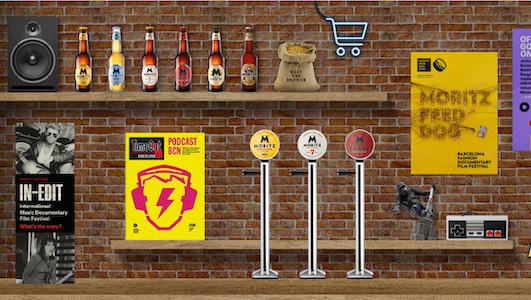 Desde el bar virtual de Moritz se pueden pedir cervezas de la marca