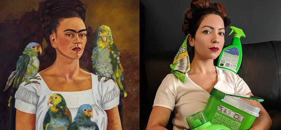 Recrear cuadros famosos en casa se ha convertido en el pasatiempo favorito de internet durante el confinamiento