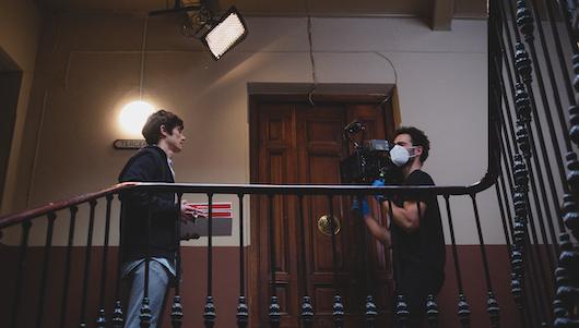 Imagen del rodaje de la campaña