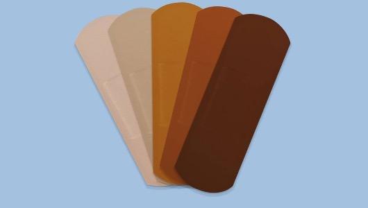 Imagen de las tiritas con diversas tonalidades