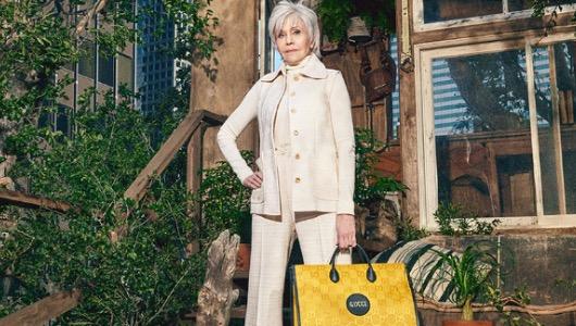 Jane Fonda, en una campaña para Gucci