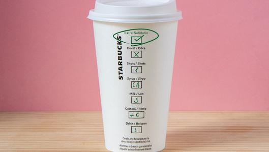 El vaso de Starbucks incluye una nueva opción