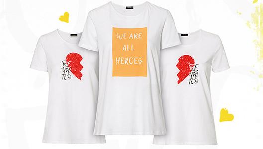 Los dos modelos de camisetas
