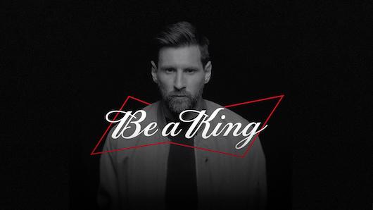 La campaña narra la historia de superación de Messi