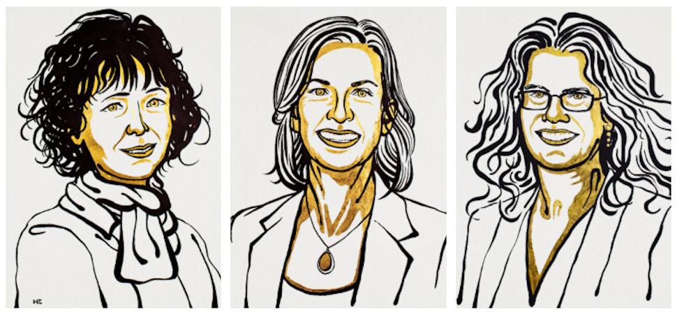 Tres mujeres recibirán este año un Nobel de ciencias