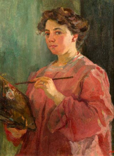'Autorretrato', de Lluisa Vidal. Imagen: Museo Nacional de Arte de Cataluña.