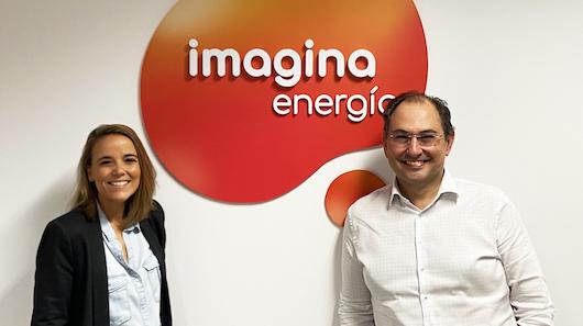 Andrea Fernández, directora de marketing, y Santiago Chivite, director general de Imagina Energía