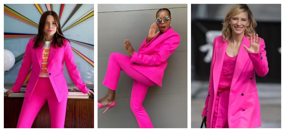 El traje rosa con el que las 'celebrities' recuerdan a las estadounidenses que ellas decidirán las elecciones