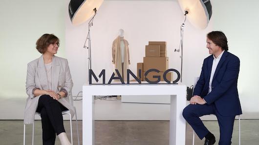 Elena Carasso, directora de Online y Cliente, y Guillermo Corominas, director de Relaciones Institucionales de Mango
