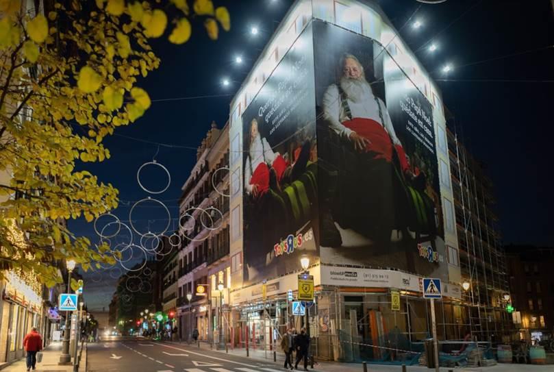 La fachada intervenida en Madrid