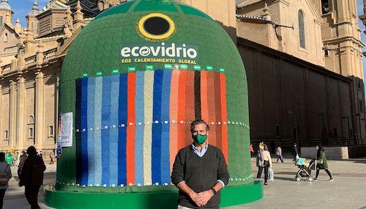 El contenedor está en la Plaza del Pilar de Zaragoza