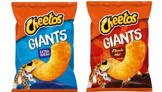 Las dos variedades de Cheetos Giant