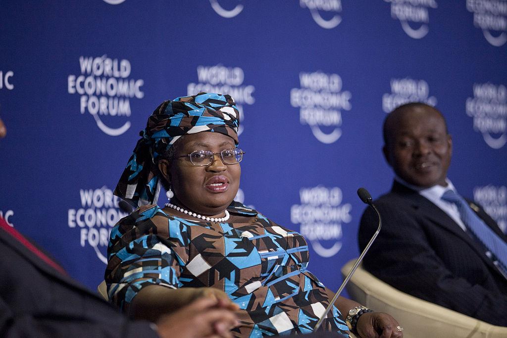 Ngozi Okonjo-Iweala, interviniendo en el Foro Económico Mundial sobre África.
