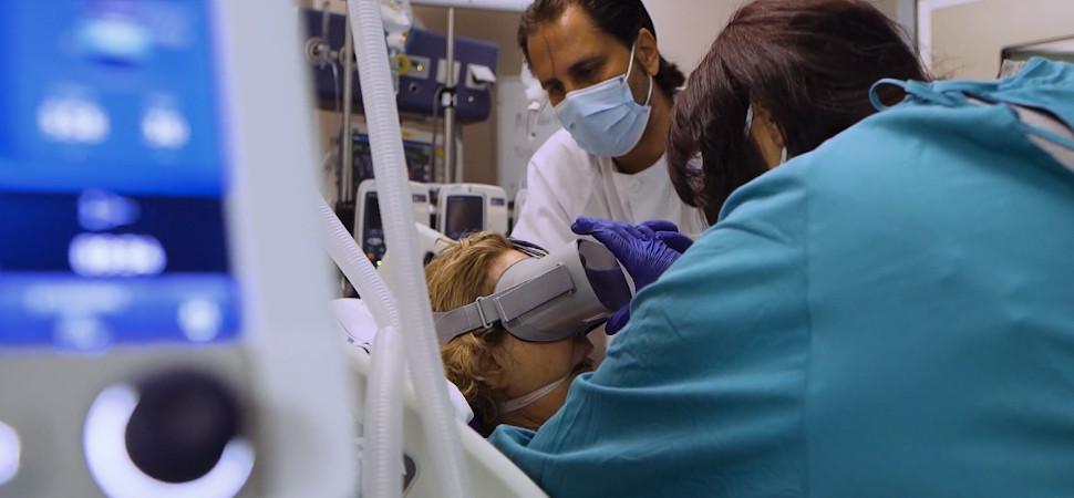La realidad virtual es el arma de Charo Ortín para acelerar la recuperación de los pacientes en las UCI