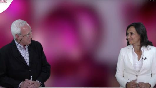 Víctor Conde, director general de la Asociación de Marketing de España, e Isabel Lara, vicepresidenta de Atrevia