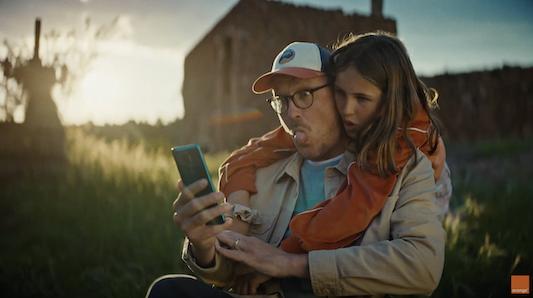 Campaña reciente de Orange, anunciante muy activo en televisión