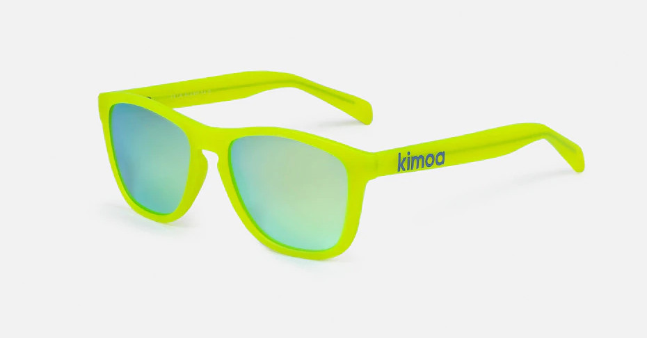 Gafas de sol unisex Kimoa LA Alarm con montura en amarillo.