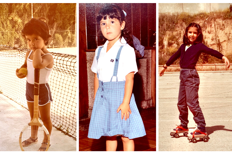 Marta Medrano, en distintas fotos de su álbum personal