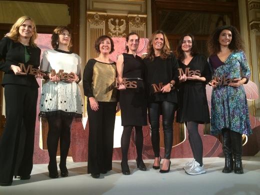 De izquierda a derecha, Gema Reig, Mirta Drago, Esther Valdivia (CEO de Publicaciones Profesionales), Rosa Almarza, Cristina Rey, Xisela López e Iolanda Casalà