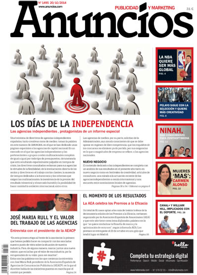 Revista Anuncios 1495 - Informe Agencias Independientes