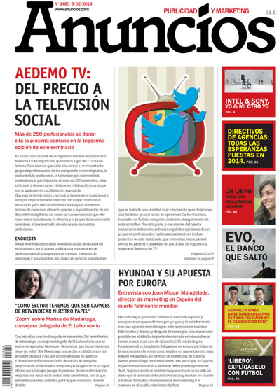 Revista Anuncios 1480 - Informe AEDEMO TV