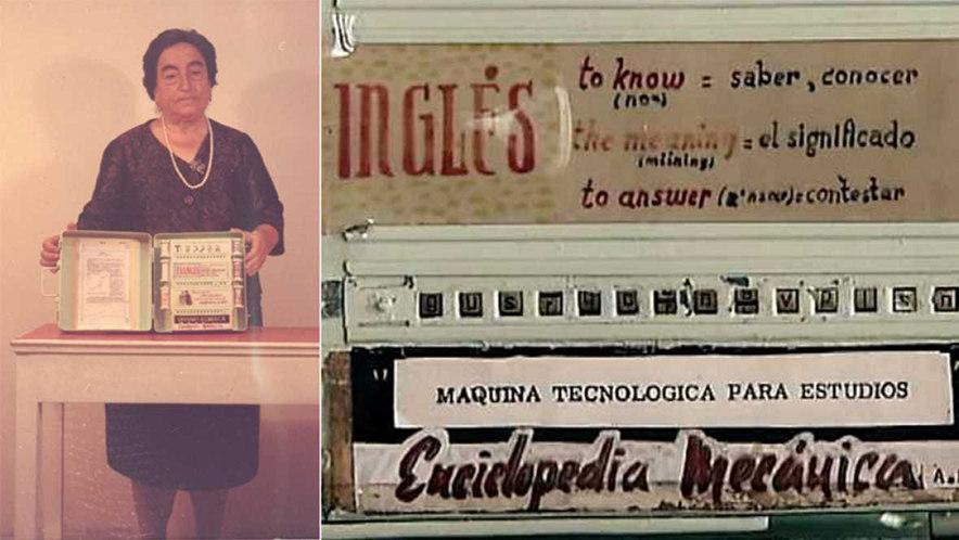 Ángela Ruiz Robles, junto a su invento, en una imagen de archivo de RTVE
