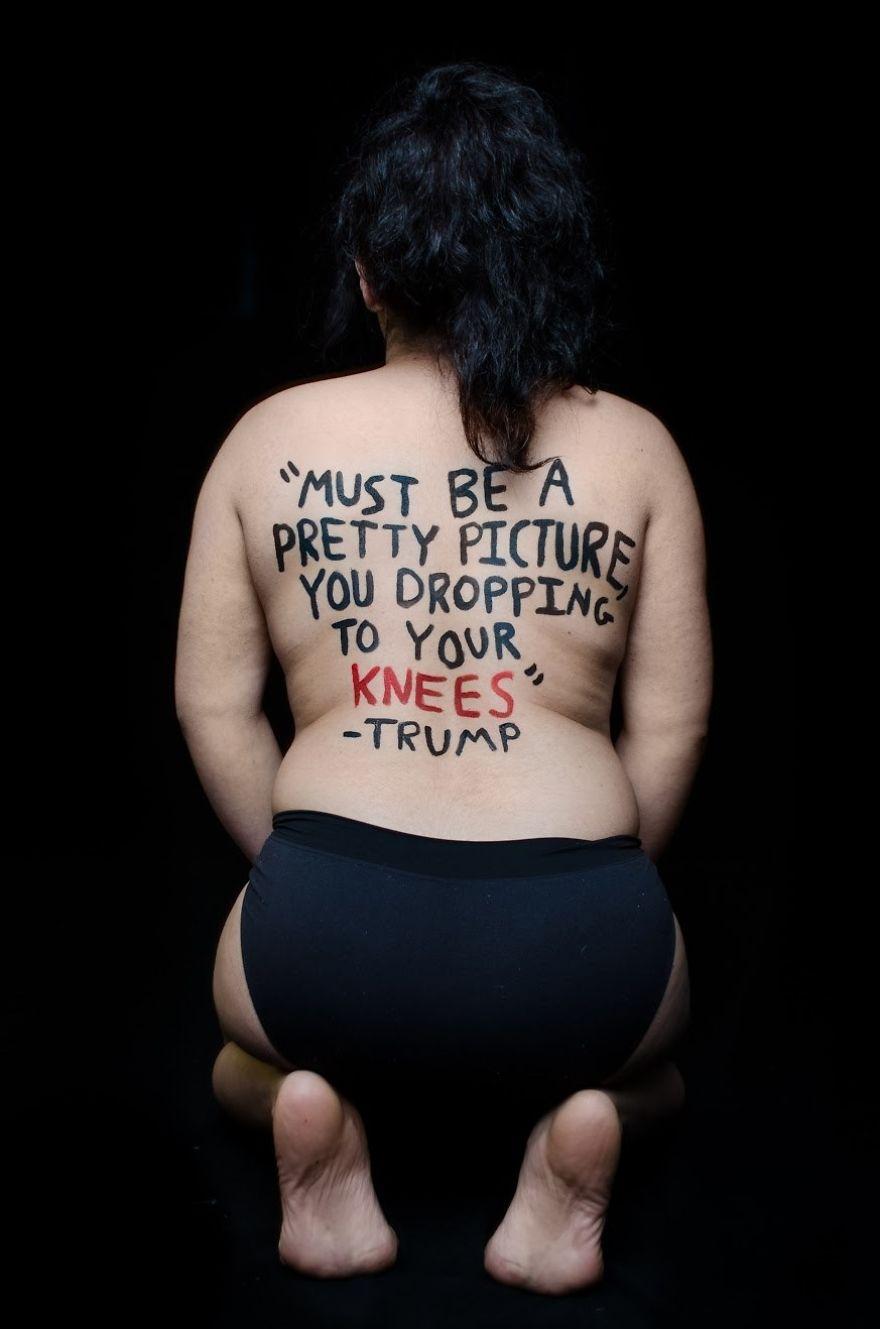 'Debe ser una bonita imagen verte poniéndote de rodillas'/Foto: Aria Watson