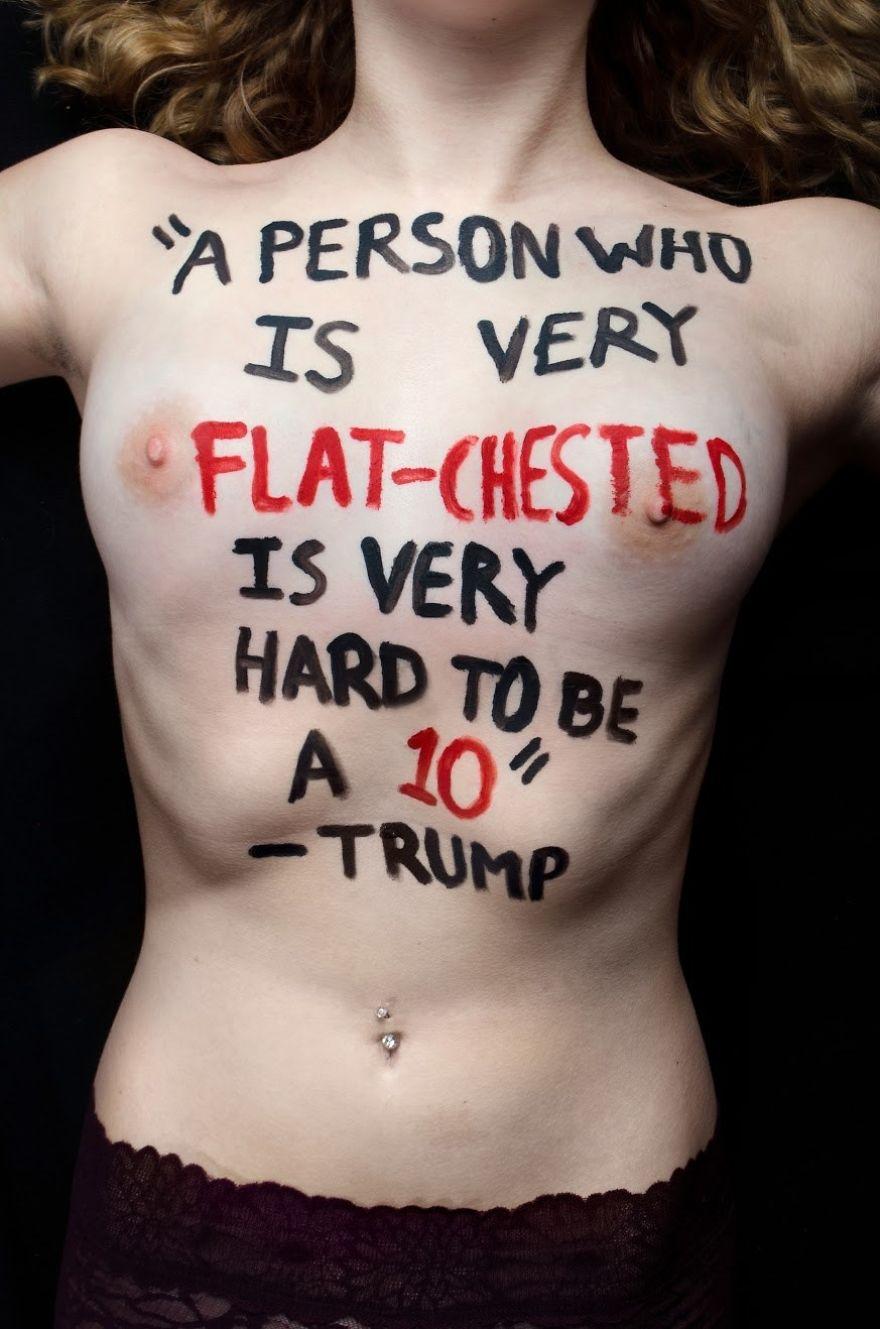 'Una persona con el pecho muy plano es muy difícil que sea un 10'/Foto: Aria Watson