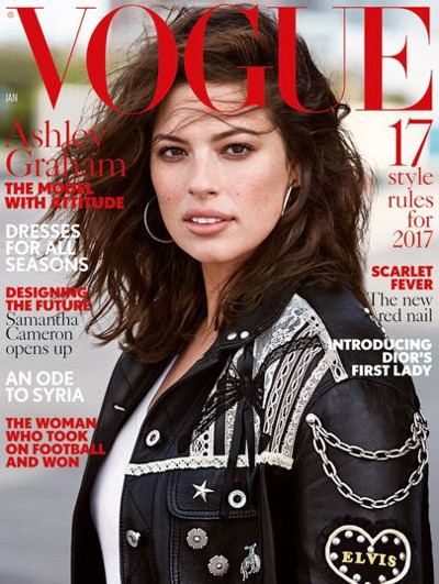 Ashley Graham protagonizará la portada de enero de Vogue UK