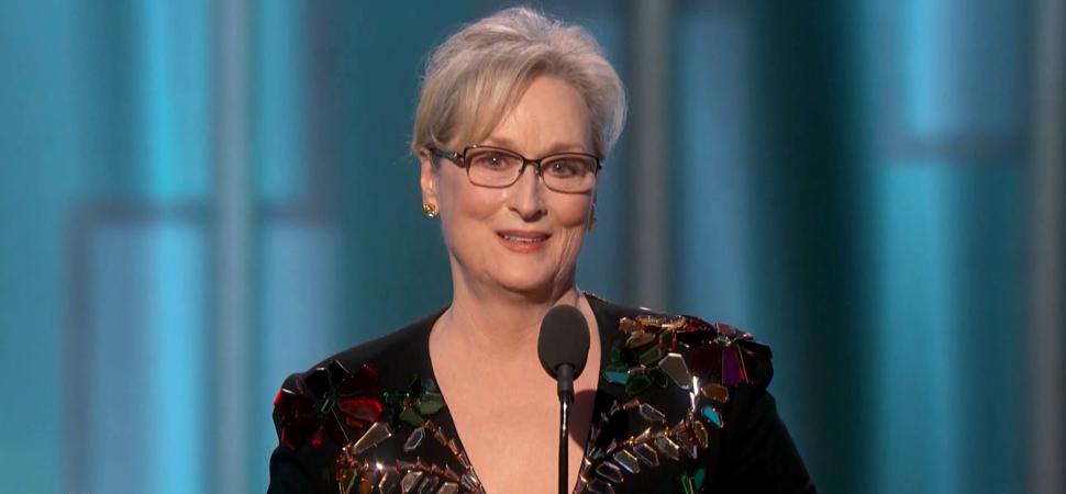 El premio al mejor discurso de los Globos de Oro es para… Meryl Streep