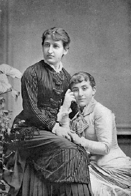 La Dra. Jacobs junto a una paciente, 1882. Imagen: Wikimedia Commons